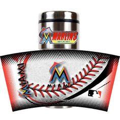 Miami Marlins 16 oz. Game Ball Travel Tumbler - Black - $21.99