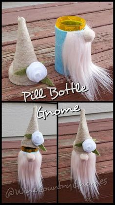 Christmas Ornament Crafts, Cute Crafts, Diy Christmas Gifts, Crafts To Do, Creative Crafts, Holiday Crafts, Crafts For Kids, Pill Bottle Crafts, Pill Bottles