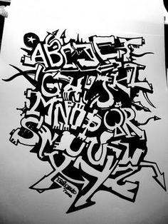 graffiti alphabet letter A-Z by braindead Tattoo Lettering Fonts, Cool Lettering, Lettering Styles, Graffiti Lettering, Lettering Design, Graffiti Art, Graffiti Writing, Graffiti Styles, Tagging Letters