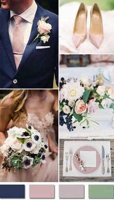 blush pink and blue wedding | cobalt blue and blush pink wedding ...
