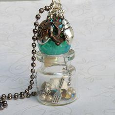 Little Mermaid Necklace Little Mermaid Bottle Necklace by Msemrick