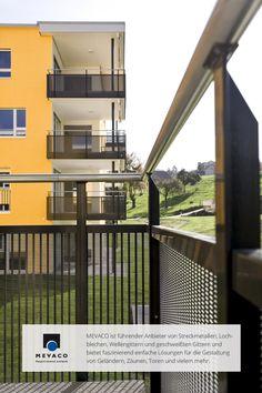 Projektleiter Alex Tschuppert wollte beim Wohnanlagenbau in der Schweiz einen ganz besonderen Akzent setzen. Mit Lochblech ist ihm das gelungen. Das Ergebnis: schicke und robuste Balkone. Mehr unter http://www.mevaco.de/fascination-15 #MEVACO #Balkongeländer #Aluminium #Lochblech #FaszinationNo15