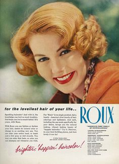 Roux - for the loveliest hair of your life! #vintage #hair #ad
