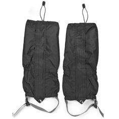 """Unisex Double Sealed Black Waterproof Leg Gaiters Legging Cover For Lower Legs Pants. Package includes: One pair of waterproof leg covers. Leg height (approx.): 15.3"""" (39cm). Leg covers fit: One size fits all. Material: 400D Nylon cloth. Fitment: Unisex Adult, Men & Women."""