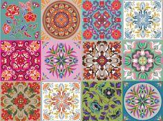 mosaicos pintados a mano - Buscar con Google