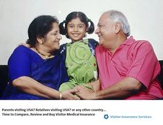 Elder parents or relatives from India who are visiting America, buy #visitorsinsurance http://insu.us