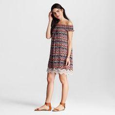 Women's Printed Off the shoulder Dress - Xhilaration™(Juniors')