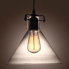 60W Contemporary Metal Pendant Light With Glass Shade - EUR € 98.99