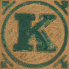 Vintage Wooden Block Letter K by Leo Reynolds, via Flickr; this picture set is brought to you by the letter k