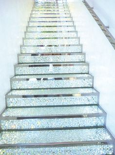 stairway to glitter heaven. would it be so wrong to put these in my house?