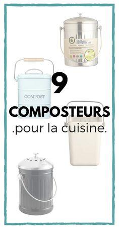 Kitchen Composter: 9 Kitchen Composters to Discover! Diy Organisation, Zero Waste Management, Kitchen Compost Bin, Cuisines Diy, Zero Waste Store, Bees Wrap, Bokashi, Minimalist Kitchen, Slow Living
