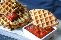 Paleo Garlic Bread Waffle Dippers