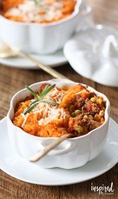 Sweet Potato Shepard's Pie - fall cooking comfort recipe