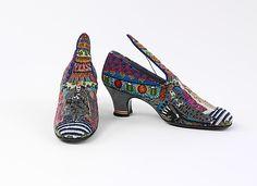 """Le Bal,"" 1925, Andre Perugia for Paul Poiret, silk, glass, leather (Met, Costume Institute)"