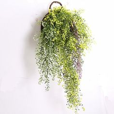cool Meiliy Artificial Fake Hanging Vine String Plant for Home Garden Wall Decoration