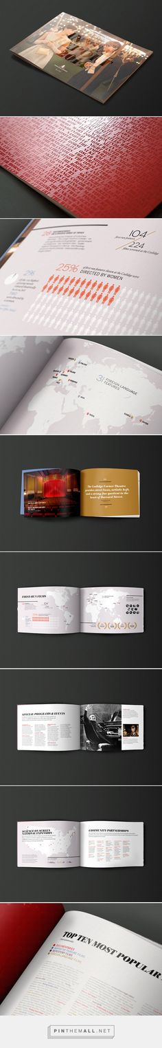 Coolidge Corner Theatre 2014 Annual Report. Designed by Fore Design and Offset Printing by DS Graphics. Seen on FPO. I love the cover type revealed through the varnish on a full photo ~Lynise
