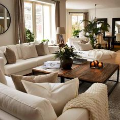 heartwarming living room decor and 12 tips for contemporary living room deco. Living Room Decor Cozy, New Living Room, Living Room Interior, Home Interior Design, Neutral Living Rooms, Cozy Living Room Warm, Classic Living Room, Elegant Living Room, Small Living