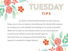 Since school will be starting for many of us soon and time will be slim pickings, this month's Tuesday Tips is all about time management:  http://www.everythingbloom.com/tuesday-tips-170-%C2%B7-time-management
