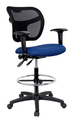 Flash Furniture Height Adjustable Drafting Stool With Curved Back Fabric:  Burgundy, Arms: Armless     Office Chairs   Office Furniture   Furniture