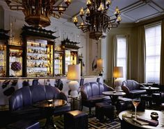 The Langham London - luxury hotel interiors.