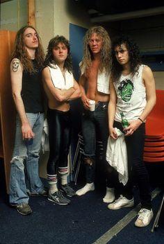 Metallica with Cliff Burton Ron Mcgovney, Cliff Burton, Robert Trujillo, James Hetfield, Ozzy Osbourne, Thrash Metal, Black Sabbath, Guns N Roses, Iron Maiden