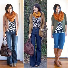 cozy scarves / patterns / neutrals