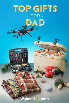 Shopping for dad has never been easier! Walmart has the perfect gifts for dad. Make his year with these must-have gift ideas from Walmart. Shop today.  Top Gifts for Dad include: Google Home Mini, Hyper Tough 116-Piece Home Repair Kit, Hyper Tough 2.4Amp Orbit Sander, Ozark Trail 26 QT High-Performance Cooler, Men's Faded Glory Flannel, Promark Warrior Drone P70-CW Drone.