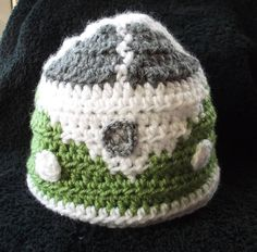 VW Camper van crochet beanie/hat by yasasii123 on Etsy, $24.00