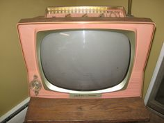 WOW Vintage 1959 Sylvania Dualette TV Set Coral with Clock Timer   eBay