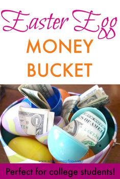 Bucket full of money filled easter eggs a cute money gift idea bucket full of money filled easter eggs a cute money gift idea easter easter baskets and gift negle Image collections