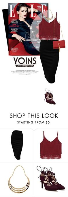 """""""YOINS"""" by monmondefou ❤ liked on Polyvore featuring Yves Saint Laurent, women's clothing, women's fashion, women, female, woman, misses, juniors and yoins"""