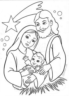 Christmas Coloring Pages - Baby Jesus Preschool Christmas, Christmas Nativity, A Christmas Story, Christmas Colors, Christmas Projects, Christmas Themes, Kids Christmas, Christmas Activities, Christmas Decorations
