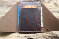 mens custom leather wallets leather wallet by PopularMiles