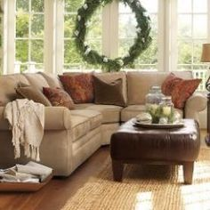 Sectional couch - Pottery Barn...This is what I'm looking for, for my living room!!