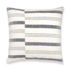 Kufri Lima Stripe Pillows in Natural, Black/White/Grey Pillow Cover, Decorative Throw Pillowcase, Farmhouse Cushion Cover, Designer Pillow Grey Pillow Covers, Grey Pillows, Throw Pillows, Patio Pillows, Couch Pillows, Best Pillows For Sleeping, Designer Pillow, Fabric Design, Hand Weaving