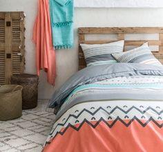 Posteľné obliečky s farebnou potlačou Hippie Chic, Comforters, Blanket, Fibre, Ivoire, Slipcovers, Stream Bed, Warm, Laid Back Style