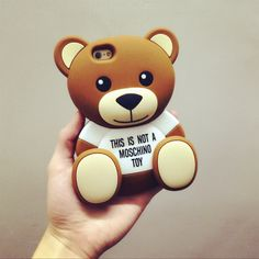 MOSCHINO Teddy Bear Design Silicon Phone Case For iPhone 5 5s 6 6plus  $6.7pcs free shipping