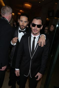 Jared Leto & Shannon Leto - 71st Annual Golden Globe Awards