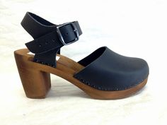Black oiled Super High Dalanna with buckled Ankle Strap - Click Image to Close