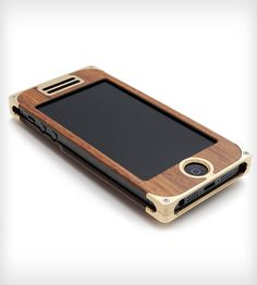 Brass & Rosewood Composite iPhone 4/4s or 5 Case with Western Engraving | Gear & Gadgets iPhone |