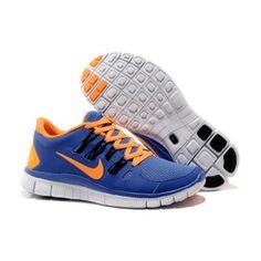 new concept d4be8 cfdf7 Billig Replica Menn Nike Free 5.0 + Blå Oransje Nike Free Shoes, Mens  Running,