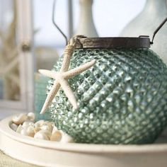 Beach Decor. I'm pretty sure this is from Pottery Barn...