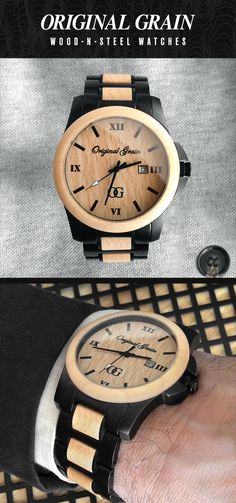 One of the most unique watches on the market today! Featuring 100% All-Natural Maplewood and Matte Black Steel. $149 with Free Shipping Worldwide!