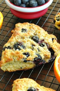 These honey glazed orange blueberry scones are easy to make and bursting with berry flavor!