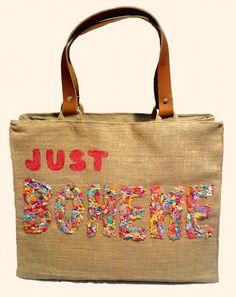 """Just Boheme Bunt"" Beach bags www.sylt-boheme.de"