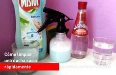 Cómo limpiar una ducha sucia rápidamente Cleaning Recipes, Cleaning Hacks, Cleaning Supplies, Spray Bottle, Kitchen Decor, Household, Tips, Ideas, Home