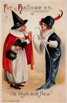 B2808 Clapsaddle Halloween Postcard Witch Woman | eBay
