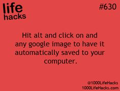 alt + click will save a google image to your computer.