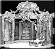 Imaginary Invalid by Moliere - Set Design by Richard Finkelstein, Stage Designer Design Set, Stage Set Design, Set Design Theatre, Design Model, Scenography Theatre, Scenic Design, Stop Motion, Box Art, Design Elements