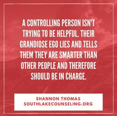 controlling person in a relationship